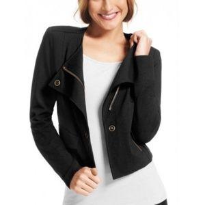 CAbi Ponte Knit Moto Zip Jacket